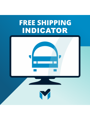 Free shipping indicator for Magento 2
